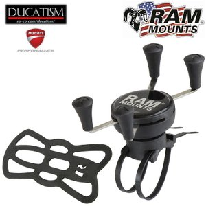 RAM Mounts EZ ON/OFF Xグリップハンドルバーマウント Universal X-Grip ホルダー RAP-274-1-UN7U iPhone7/8/X対応!|ducatism