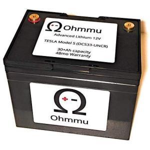 Ohmmu テスラ モデルS 用 12Vリチウムバッテリー 12V Lithium Battery for TESLA Model S T1230S|ducatism