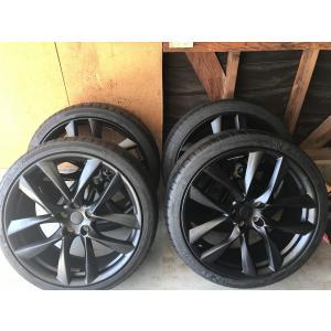 テスラ モデルS  純正 21インチ アラクニッド ホイール ブラック4本set Arachnid Wheel 8.5Jx21/9Jx21 1台分set Tesla ModelS 鍛造|ducatism
