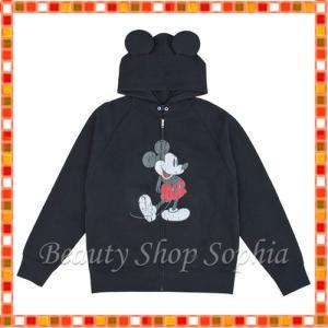 ミッキーマウス フード付きパーカー(ブラック) ディズニー グッズ お土産(東京ディズニーリゾート限定)|duffy-0080