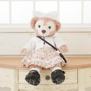 シェリーメイ フラワープリントワンピース コスチュームセット オリジナル ハンドメイド 手作り Sサイズ43cm 洋服 着せ替え|duffy-0080