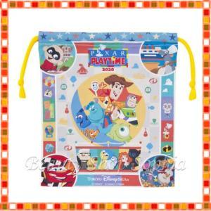 ピクサーフレンズ きんちゃく 巾着 ピクサープレイタイム 2020 PIXAR PLAYTIME ディズニー グッズ お土産(東京ディズニーシー限定) duffy-0080