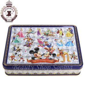 ディズニーキャラクター大集合 缶入りアソーテッド・クッキー お菓子(ディズニーリゾート限定)|duffy-0080