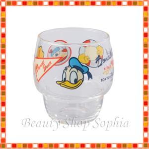 ドナルドのアメカジグッズ ドナルド・ダック グラス コップ 食器 (東京ディズニーリゾート限定)|duffy-0080