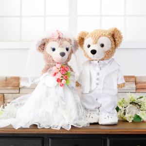 ダッフィー シェリーメイ ウェディングドレス タキシードセット オリジナルウエディングコスチューム 結婚式|duffy-0080