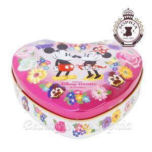 ミッキーマウス ミニーマウス ハート缶入りチョコレート お菓子 (東京ディズニーランド限定)|duffy-0080