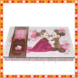 ミッキーマウス ミニーマウス 缶入りアソーテッド・チョコレート フラワーレース柄 お菓子 お土産(東京ディズニーリゾート限定)|duffy-0080