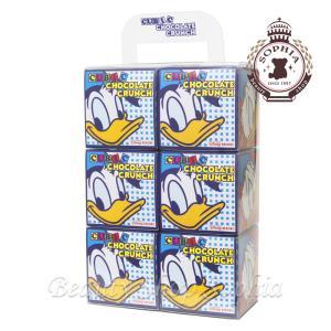 ドナルド・ダック キュービックチョコレートクランチ 6箱セット お菓子 お土産 (東京ディズニーリゾート限定)|duffy-0080