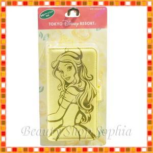 美女と野獣 ベル 汎用スマートフォンケース 折りたたみタイプ ディズニープリンセス iPhone スマホケース (東京ディズニーリゾート限定)|duffy-0080