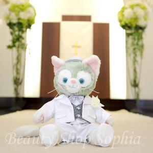 ジェラトーニ 燕尾服 コスチューム 単品 オリジナル ハンドメイド 手作り ウェルカムベア ウェディング 結婚式|duffy-0080