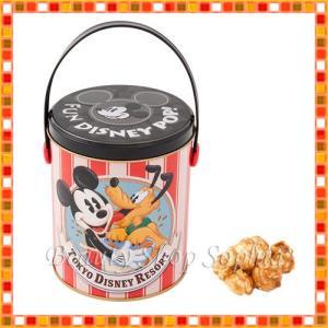 ミッキーマウス プルート 缶入りポップコーン バターキャラメル味 お菓子 お土産  (東京ディズニーリゾート限定) duffy-0080
