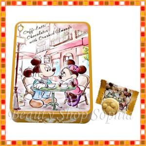 ミッキーマウス ミニーマウス 缶入りカフェラテチョコレート(アーモンド入り) お菓子 コーヒー お土産 (東京ディズニーリゾート限定)|duffy-0080