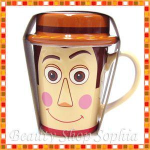 (ディズニーシー限定)トイ・ストーリー ウッディ キャップ付きマグフタ付きマグカップ コーヒーカップ|duffy-0080