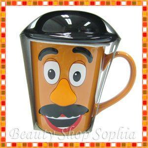 (ディズニーシー限定)トイ・ストーリー ミスターポテトヘッド キャップ付きマグフタ付きマグカップ コーヒーカップ|duffy-0080