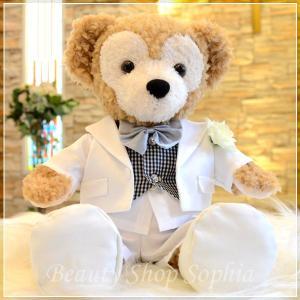 ダッフィー コスチューム 燕尾服 単品 オリジナル ハンドメイド 手作り ウェルカムベア ウェディング 結婚式|duffy-0080