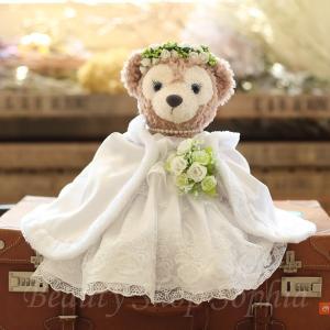 シェリーメイ ウエディングドレス(マント付き) コスチューム 単品 ぬいぐるみ別売 (オリジナル ハンドメイド) 結婚祝い 結婚式|duffy-0080