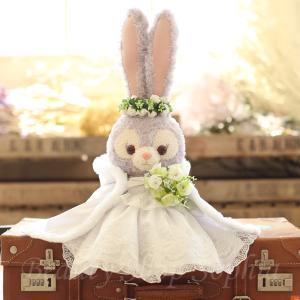 ステラ・ルー ウエディングドレス(マント付き) コスチューム 単品 ぬいぐるみ別売 (オリジナル ハンドメイド) 結婚祝い 結婚式|duffy-0080