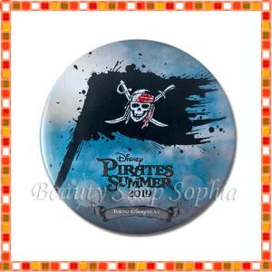 海賊旗デザイン 缶バッジ パイレーツ・サマー 2019 海賊 ディズニー グッズ お土産(東京ディズニーシー限定)|duffy-0080