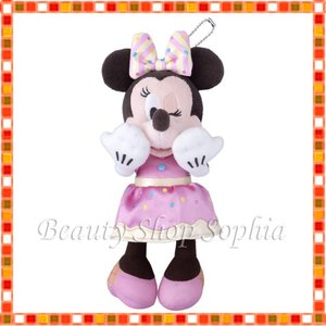 ミニーマウス ぬいぐるみバッジ Pink Pop Paradise ディズニー グッズ お土産(東京ディズニーリゾート限定)|duffy-0080