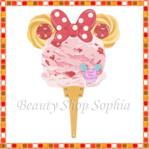 ミニーマウス うちわ(アイス) Pink Pop Paradise ディズニー グッズ お土産(東京ディズニーリゾート限定)|duffy-0080