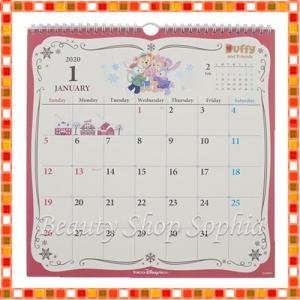 ダッフィー&フレンズ 壁掛けカレンダー 2020年 ディズニー グッズ お土産(東京ディズニーシー限定)