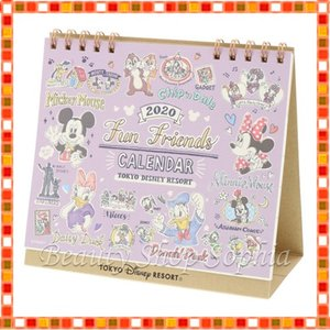 ミッキー&フレンズ 卓上カレンダー 2020年 手書き風デザイン ディズニー グッズ お土産(東京ディズニーリゾート限定) duffy-0080