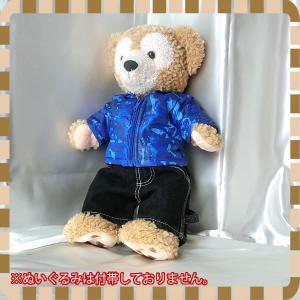 ダッフィー・シェリーメイ/コスチューム/ダッフィー用ツーピース/薄手ダウンジャケット(ブルー・カモフラ)&デニムパンツ(黒)/Duffy/ShellieMay/服
