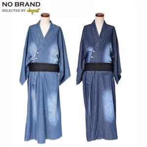 NO BRAND DENIM YUKATA SET ノーブランド デニム メンズ 浴衣 3点セット|dugout0942
