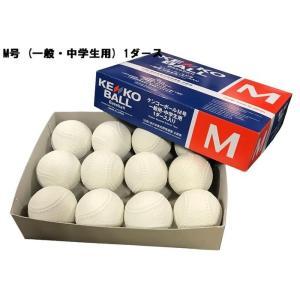 ナガセケンコー(KENKO)  軟式 野球 ボール 公認球 M号 (一般・中学生用) 1ダース 16JBR11100|dugoutshop