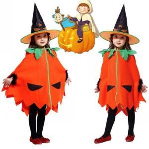 ハロウィン衣装 かぼちゃ マント 帽子付き ベビー 女の子 男の子 子供用 仮装 ハロウィーン 幼稚園 キッズ コスプレ コスチューム 子供 コスプレ 仮装