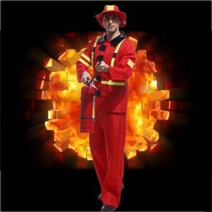 ハロウィン 大人用 コスプレ衣装 消防士 Halloween...