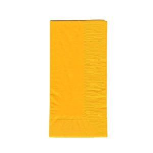 ディープカラーナプキン 2PLY 50枚入り 45x45cm 8面折り イエロー|duni