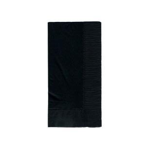 ディープカラーナプキン 2PLY 50枚入り 45x45cm 8面折り ブラック|duni