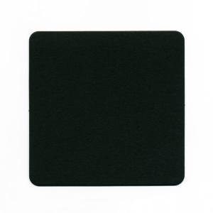 【在庫限り】 コースター ブラック (無地) 正方90x厚さ0.8mm 100枚入り|duni