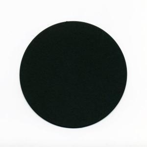 在庫限り コースター ブラック (無地) 直径90x厚さ0.8mm 100枚入り|duni