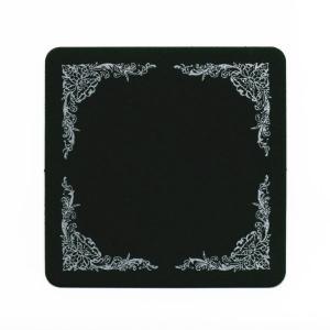 【在庫限り】 コースター ブラック (フェスティバ) 正方90x厚さ0.8mm 100枚入り|duni