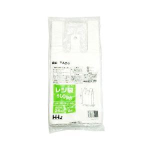 手提げビニール袋 TA25 乳白 100枚入り 15x35cm|duni