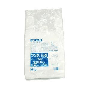 手提げビニール袋 TL02 乳白 100枚入り 25x45cm|duni