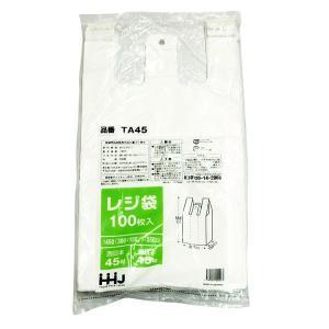 手提げビニール袋 TA45 乳白 100枚入り 30x55cm|duni