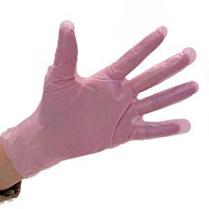 ポリエチレン手袋 原田産業 サニーフィールド フィットグローブ ピンク Mサイズ 100枚入り 使い捨て duni