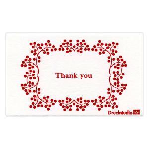 メッセージカード(Thank you) 55mm×91mm 5枚セット|duni