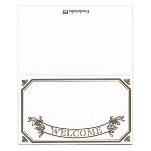ゲストカード(Welcome) 110mm×91mm 5枚セット|duni