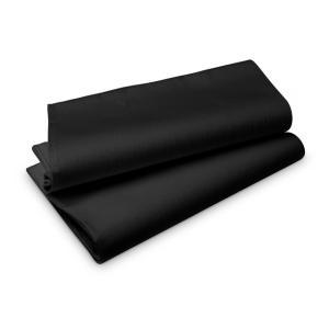 【在庫限り】 エヴォリン ペーパーテーブルクロス カラー(ブラック) 110×110cm 50枚入|duni