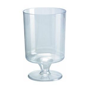プラスチック製ワイングラス 高さ9.2x幅6cm 175cc 12個入|duni