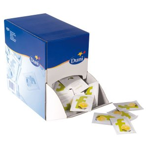お手拭き (レモンの香り) 7x5cm   250枚入り ディスペンサーボックス付き|duni
