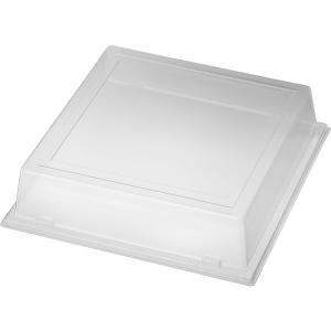 【在庫限り】 ラージプレート用 リッド(透明) 18.5x18.5x4.6cm 70枚入 duni