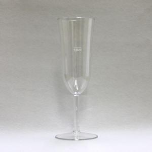 【在庫限り】 硬質強化プラスチックグラス シャンパン 1個入 容量200cc 高さ19.6cm 直径7cm   「10cl」の目盛つき|duni|02
