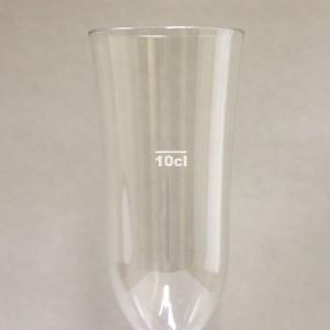 【在庫限り】 硬質強化プラスチックグラス シャンパン 1個入 容量200cc 高さ19.6cm 直径7cm   「10cl」の目盛つき|duni|03