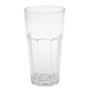 【在庫限り】 硬質強化プラスチックグラス カフェラテ  容量530cc 高さ16cm 直径8.7cm 1個入|duni