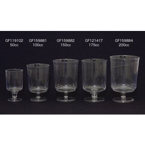 【在庫限り】 プラスチック製 ワイングラス 高さ8x幅5.4cm 100cc(115cc) 12個入 duni 03